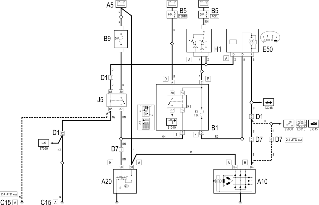 E5010 STARTING AND RECHARING - WIRING DIAGRAM - Alfa - 166 ... on
