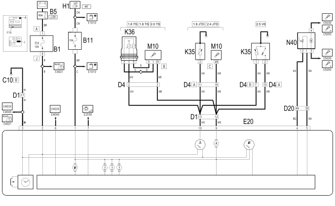 E4023 DASHBOARD CENTRE AUXILIARY EQUIPMENT() - WIRING ... on