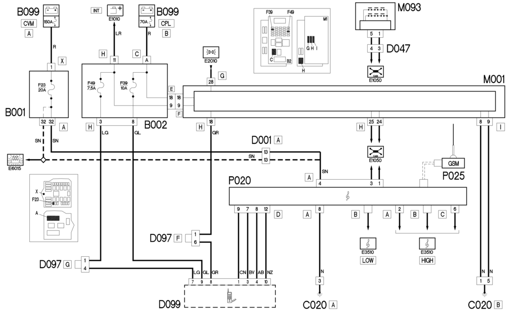 E3580 WIRING FOR CELL PHONE - WIRING DIAGRAM - Fiat - CROMA - eLearn -  4CarData4CarData