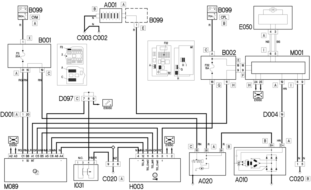 e5010 starting and recharging - wiring diagram - fiat - croma - elearn -  4cardata  4cardata