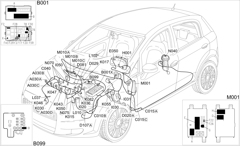 E5030 Petrol Engine Electronic Management Component Location Fiat Grande Punto Elearn 4cardata